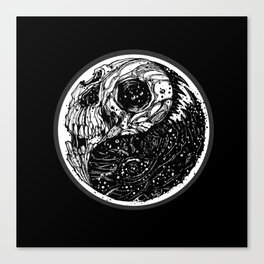 yin yang (evil and evil) - 2014 Canvas Print