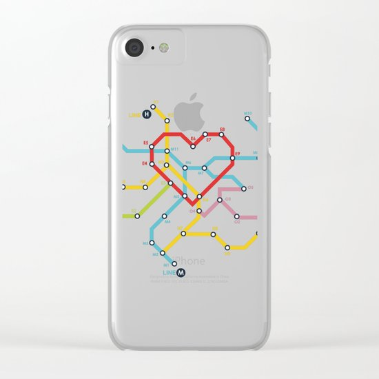 Home Where The Heart Is Clear iPhone Case