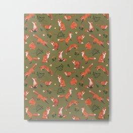 Fox Pattern (large) Metal Print