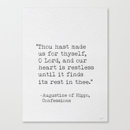 Augustine of hippo Canvas Print