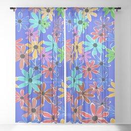Spring Flowers Sheer Curtain