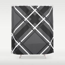 Jumbo Scale Men's Plaid Pattern Shower Curtain