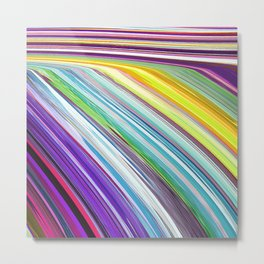 523 - Abstract Stripes Design Metal Print