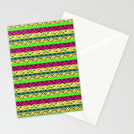Striped patchwork 02 Stationery Cards