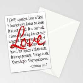 Love is Patient, Love is Kind. Stationery Cards