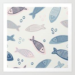 Pastel Fish Art Print