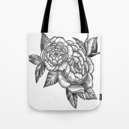 Peony Flowers Tote Bag
