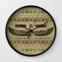 Egyptian Goddess Isis Ornament Wall Clock