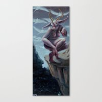 foo fighters Canvas Prints featuring Honey Bunny Foo Foo by deyampt