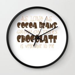 As Long As Cocoa Beans Grow On Trees Wall Clock