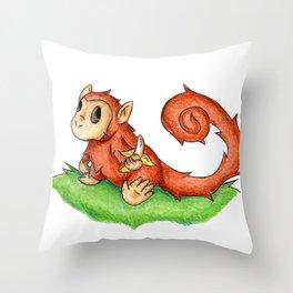 Banana Monkey Throw Pillow