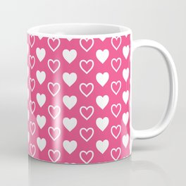 Pink and White Hearts Repeated Pattern 085#001 Coffee Mug