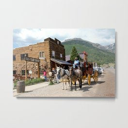 Catch the Afternoon Stage out of Silverton Metal Print