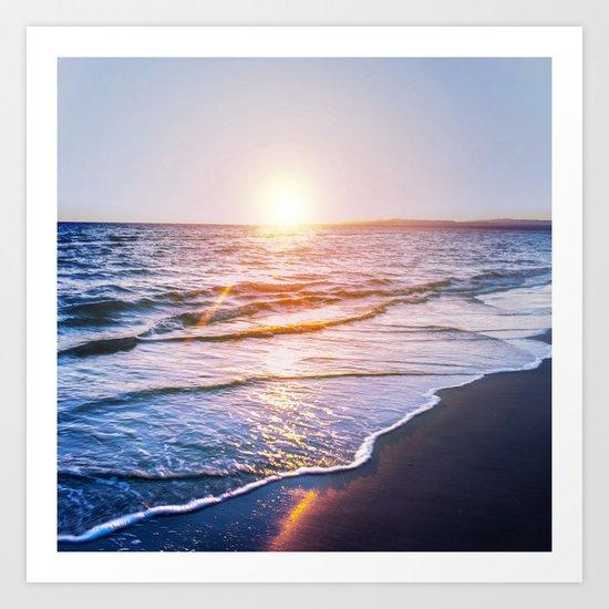 BEACH DAYS IX Art Print