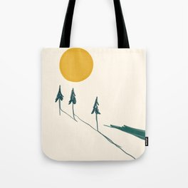 The Forest Tree Line Tote Bag