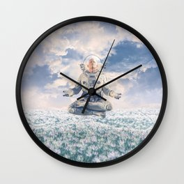 Dreamer In The Field Wall Clock