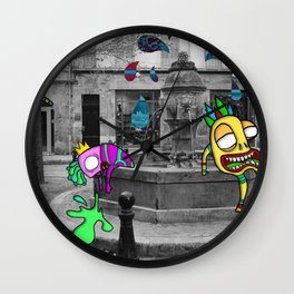 Mad Foutain Wall Clock