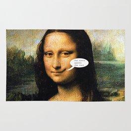 Smirking Mona Lisa Rug