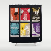bond Shower Curtains featuring Bond #1 by Alain Bossuyt