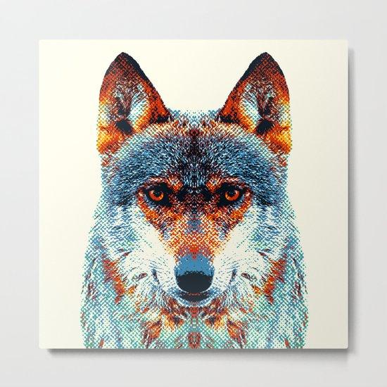 Wolf - Colorful Animals Metal Print