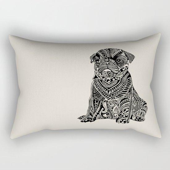 Polynesian Baby Pug Rectangular Pillow