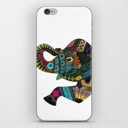 asian elephant white iPhone Skin