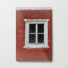 Red and White Window Metal Print