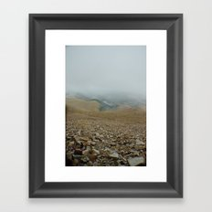 Snowy day on Pikes Peak Framed Art Print