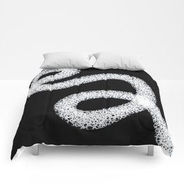 Black and White Abstract Design Comforters
