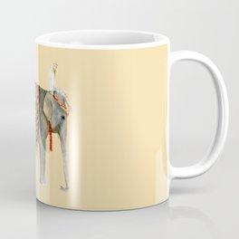 Elephant Ride on Sand Coffee Mug