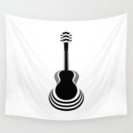 Acoustic Guitar Cutout Wall Tapestry