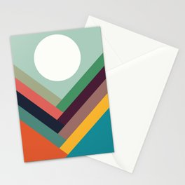 Row of valleys Stationery Cards