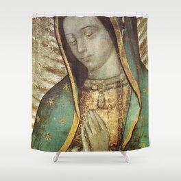 Virgen De Guadalupe Mexico Shower Curtain