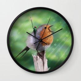 Robin Patrol Wall Clock