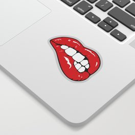 Red Lips Pop art Sticker