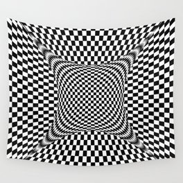 black white Wall Tapestry