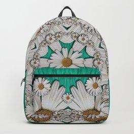 Flower wreaths mandala in wonderful summer style Backpack