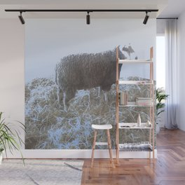 Solitude on straw Wall Mural