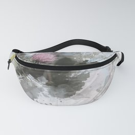 Painted thistle on textured background Fanny Pack