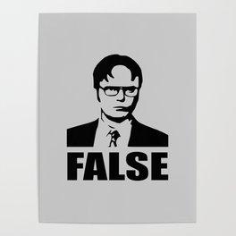 False funny saying Poster