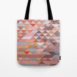 Triangle Pattern no.5 Gold, Pink and Brown Tote Bag