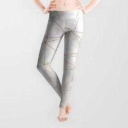 Marble Gold Geometric Texture Leggings