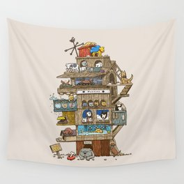 The Dog House Wall Tapestry