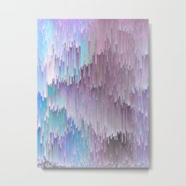 Cold Glitches Metal Print