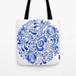Gzhel pattern Tote Bag
