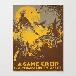 Vintage poster - Game Crop Canvas Print