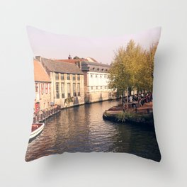 BELGIUM BRUGGES Throw Pillow