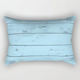 Blue Wood Texture Rectangular Pillow