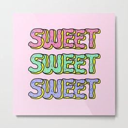 Sweet Donuts Pastel Metal Print