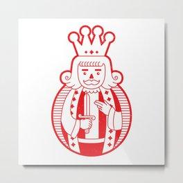 KING DIAMOND Metal Print